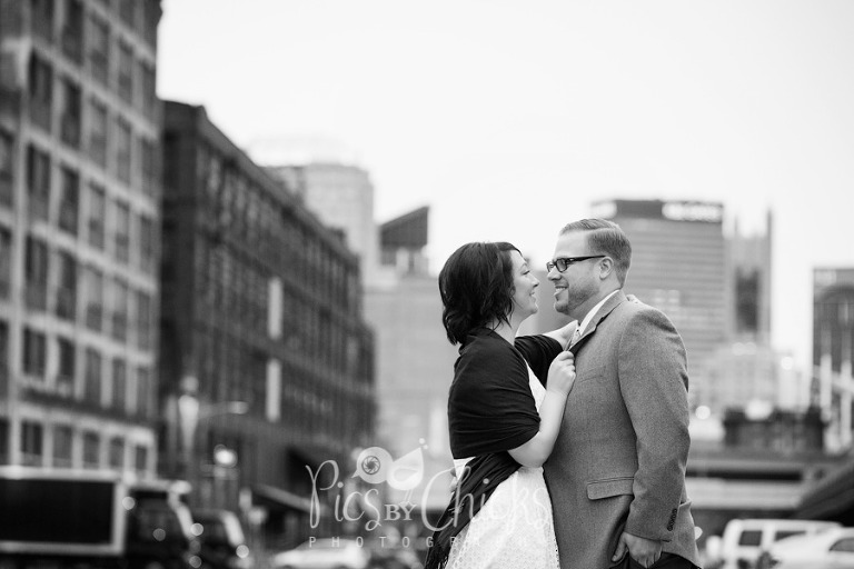 The Strip District Pittsburgh Engagement Photo, Pre-wedding photo shoot by Pics By Chicks Photography