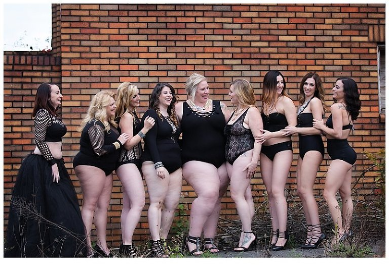 pittsburgh boudoir photography female empowerment group photo shoot