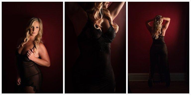Boudoir Photos Pittsburgh in black lingerie