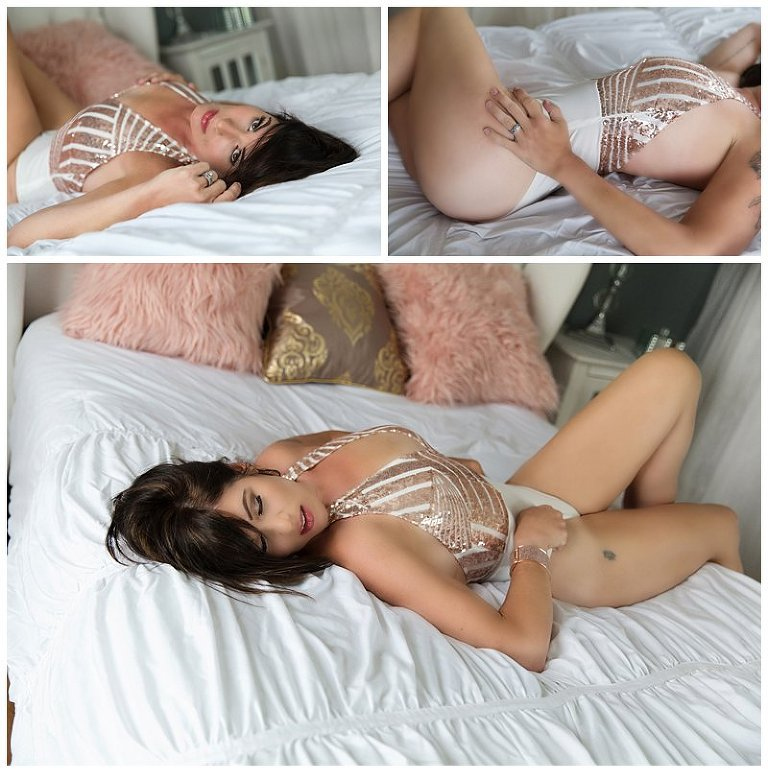 intimate photos in pittsburgh PA with lingerie photos on bed