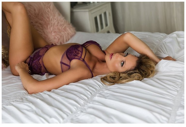 intimate photos pittsburgh woman on bed in lingerie